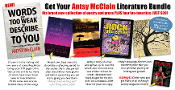 Antsy's New Book of Poetry PLUS Digital Download Book Package